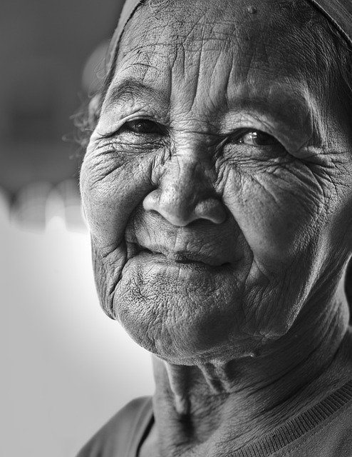 Mother, Old Woman, Tenderness, Compassion, Wrinkled