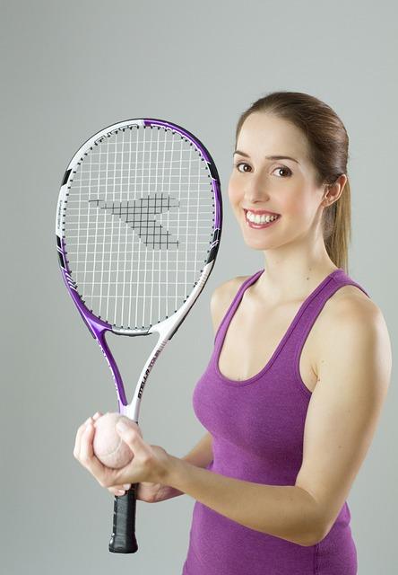 Tennis, Girl, Woman, Portrait, Smile, Sport
