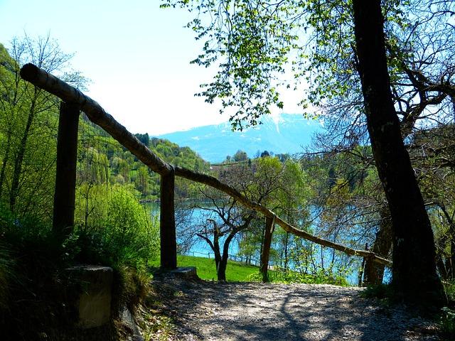 Tenno Lake, Lago Di Tenno, Italy, Away, Mountains