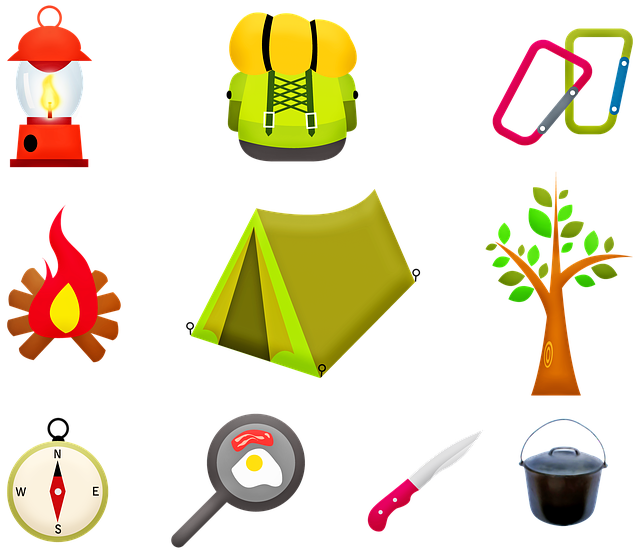 Camping Gear, Tent, Fire, Tree, Camping Cooking