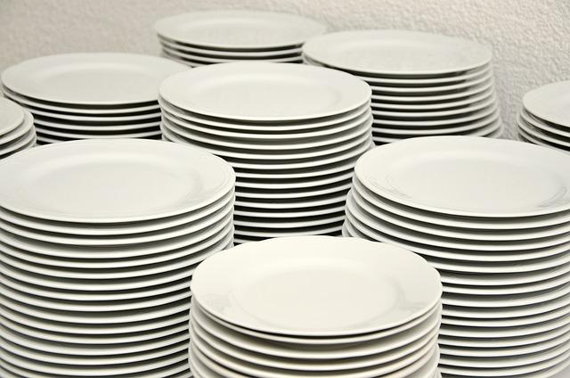 Plate Stack, Terller, Stack, Tableware, White