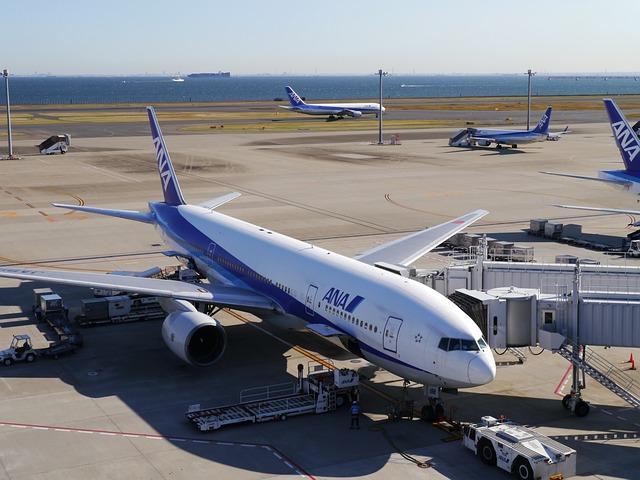 Haneda, Haneda Airport, Airport, Ana, Jet, Terminal