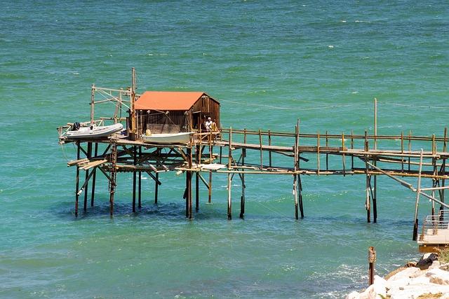 Termoli, Molise, Italy, Trebuchet, Trammel, Sea