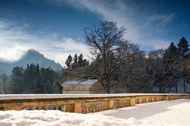 Terrace, View, Rock, Mountain, Phonolite, Winter, Snow