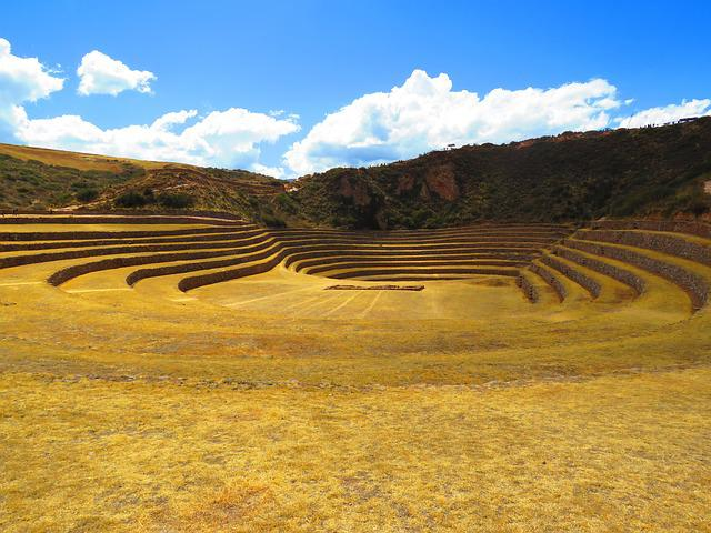 Landscape, Agriculture, Terraces, Peru