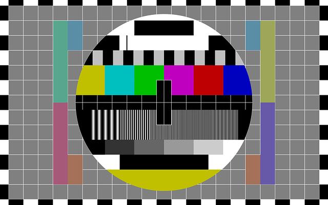 Test Pattern, Tv, Tv Test Pattern, Television