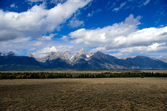 Tetons Rising Over The Valley, Tetons, Mountains