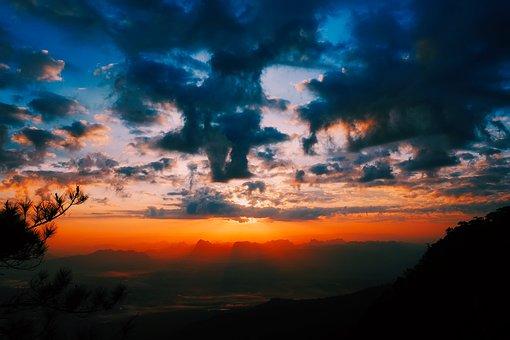 Texas, Mountains, Sunset, Dusk, Beautiful, Sky, Clouds