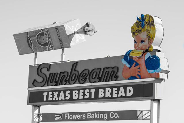 Advertising, Sunbeam, Toast, Texas, El Paso, Color Key