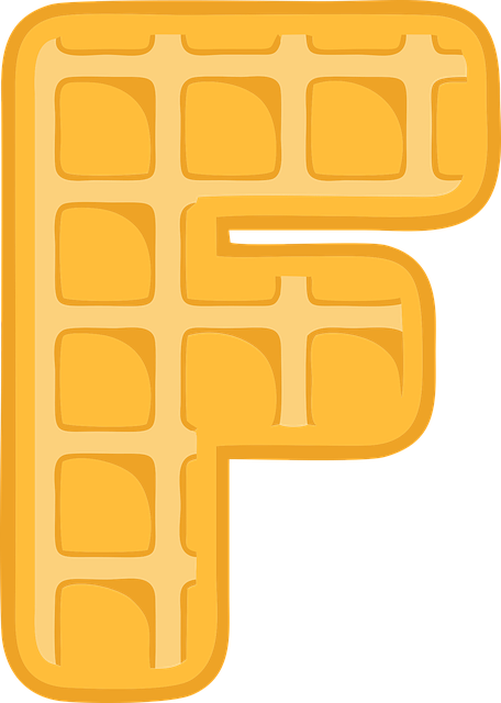 F, Alphabet, Waffle, Letter, Typography, Text, Font
