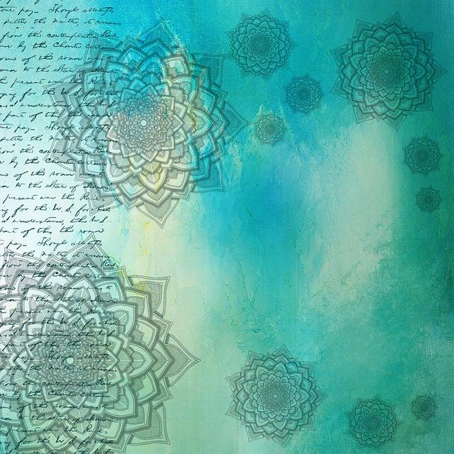 Background, Mandala, Grunge, Pattern, Text, Green