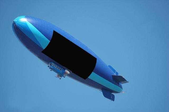 Blimp, Air Ship, Balloon, Text Space, Advertisement