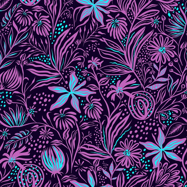 Stamping, Pattern, Leaves, Drawing, Textile, Fabric