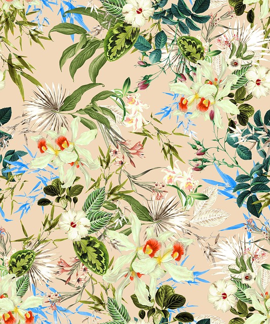 Textile, Fabric, Tropical