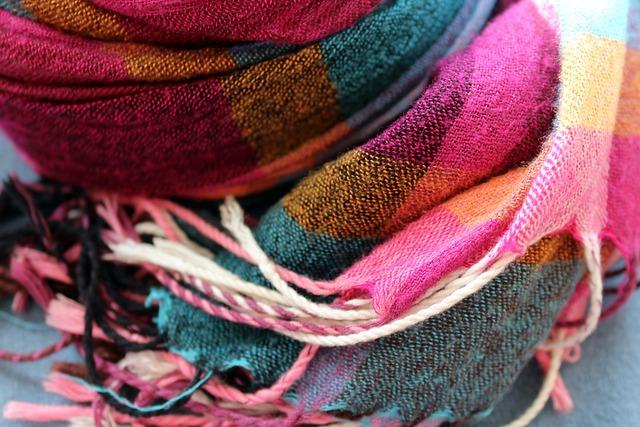 Scarf, Shawl, Clothing, Trellis, Colorful, Textile, Web