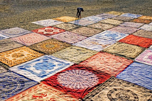 Beach, Tissues, Textiles, Fabrics, Towel, Colorful