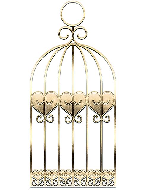 Cage, Metal, Gold, Texture, Graphic, Decorative