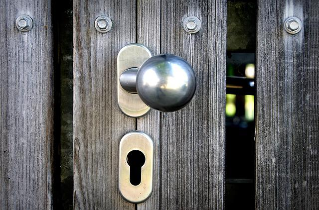 Door Handle, Ball Grip, Castle, Texture, Wood Grain