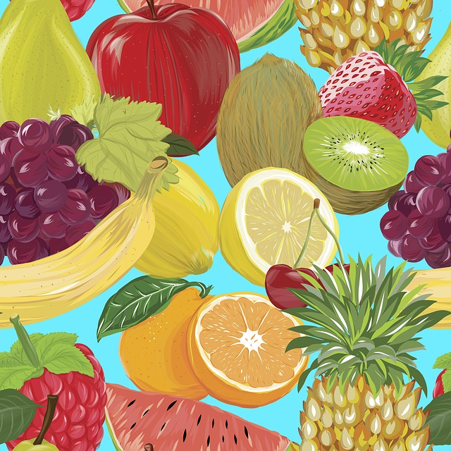 Fruit, Picture, Drawing, Illustration, Pattern, Texture