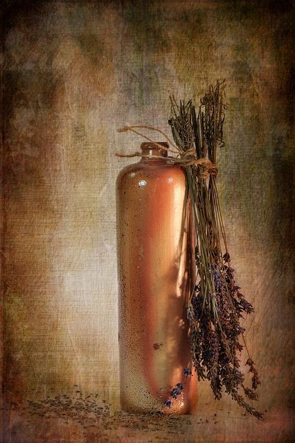 Background, Texture, Lavender, Bottle, Earthenware