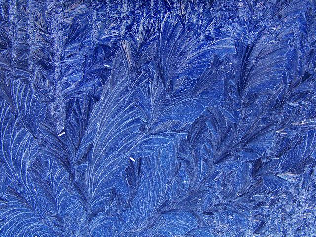 Texture, Ice, Ice Art, Ice Formations, Blue