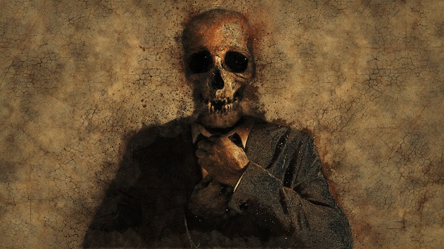 Man, Skull, Background, Texture, Death, Skeleton