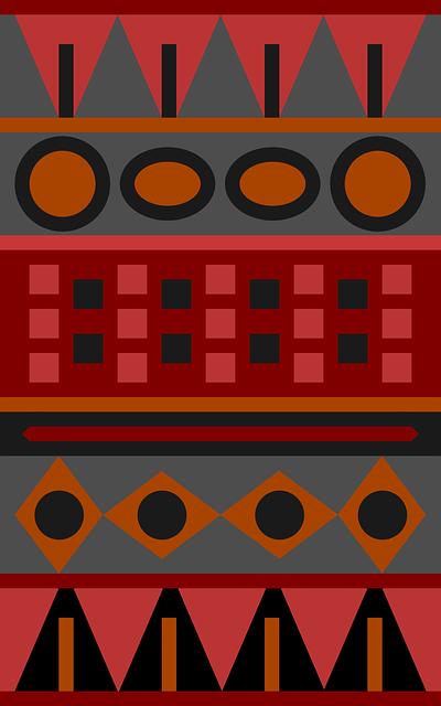 Red, Orange, Aztec, Texture, Design, Pattern, Retro