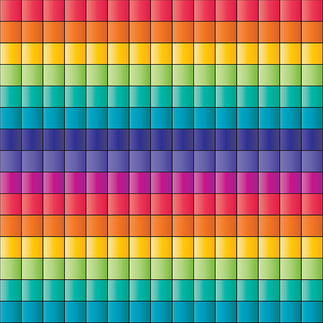 Pattern, Grid, Squares, Texture, Checkered, Rainbow