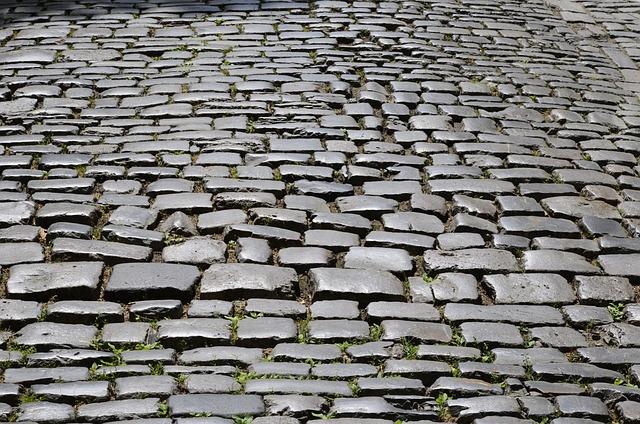 Cobblestones, Road, Paving Stones, Patch, Texture