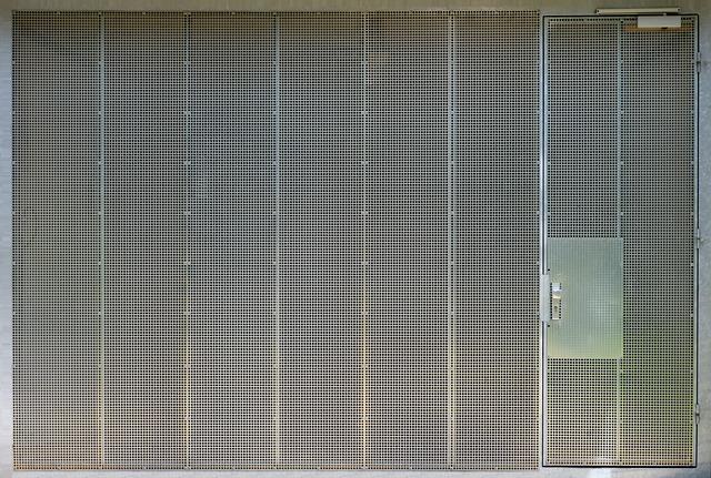 Garage Door, Steel Grid, Texture, Rendering, Template