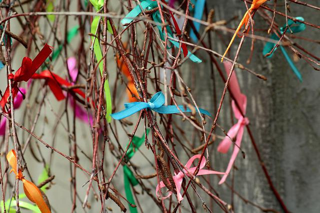 Bows, Colorful, The Background, Texture