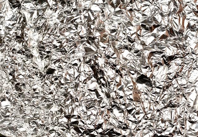 Aluminum Foil, Alu, Hell, Crumpled, Used, Texture