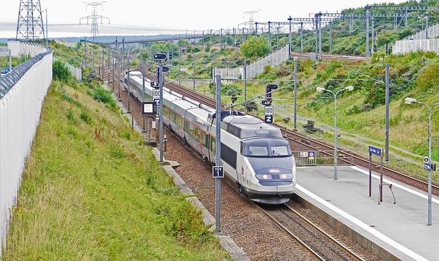 Tgv, The Train Station Calais-frethun, Exit Paris