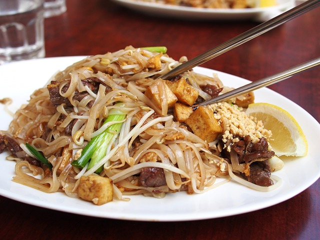 Thai Food, Noodle, Fried Noodles, Meal, Asian