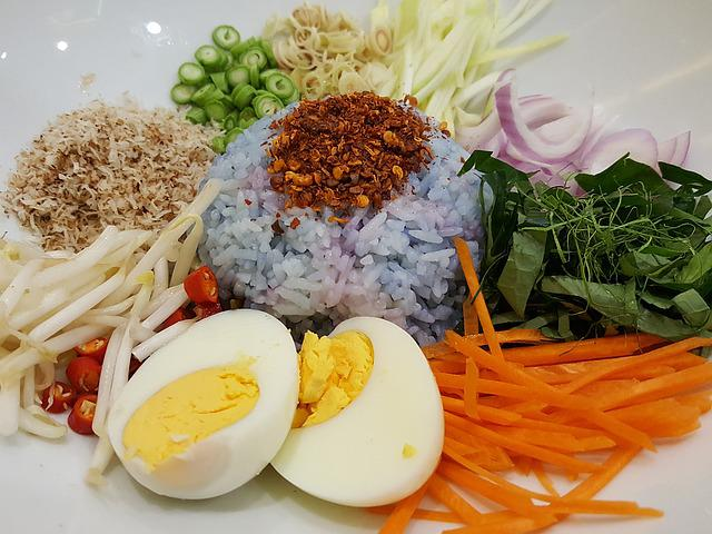Thai Southern Food, Thai Food, Rice, Salad, Rice Salad