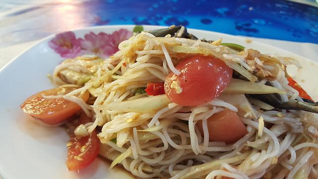 Food, Papaya Salad, Thaifood