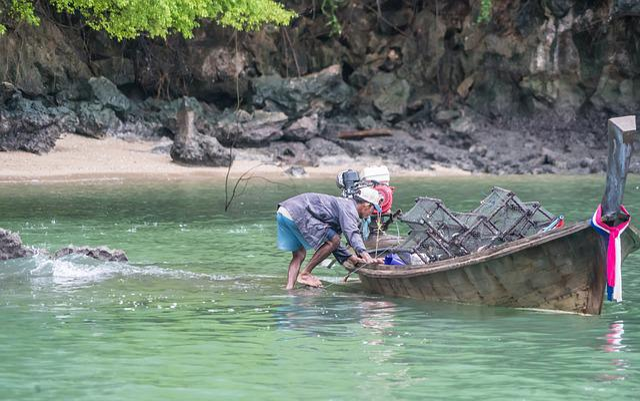 Fisherman, Phuket, Fishing, Thailand, Person, Canoe