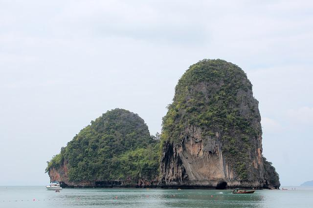 Thailand, Rock, Nature, Sea, Water, Holiday, View