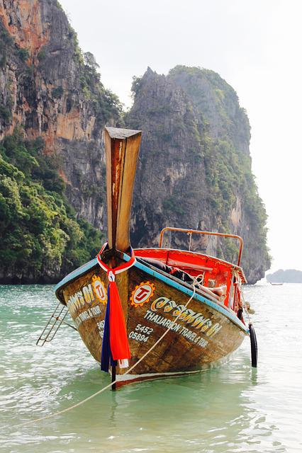 Thailand, Rock, Nature, Sea, Water, Holiday, Boot