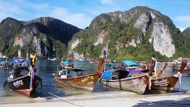 Ship, Sea, Seashore, Thailand, Fishing