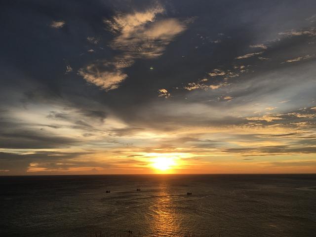 Sunset, Phuket, Attractions, Thailand, Sky, Sea, Cloud