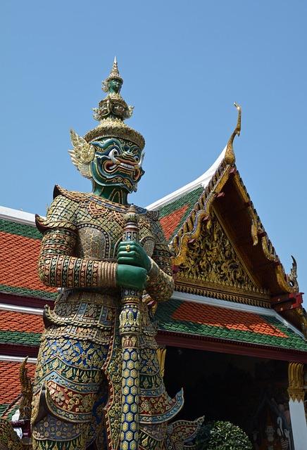 Thailand, Bangkok, Temple, Of Wat Phra Kaew