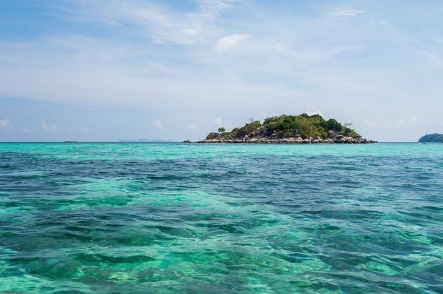 Waters, Tropical, Summer, Travel, Green Blue, Thailand