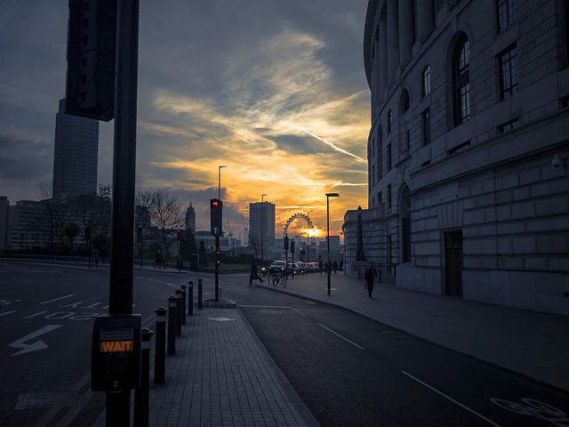 Sunset, London, London Eye, Thames