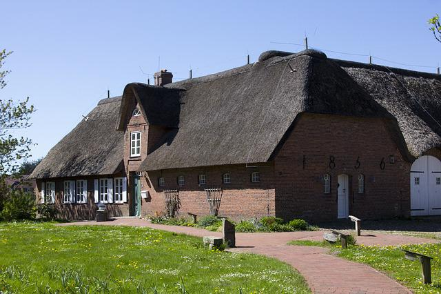 Thatched, Home, Northern Germany, Thatched Roof
