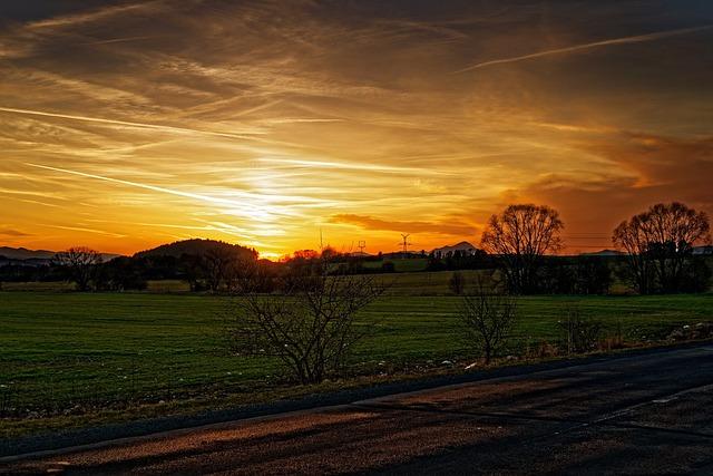 Sun, West, Meadow, That's The Orange, Path, Nikon