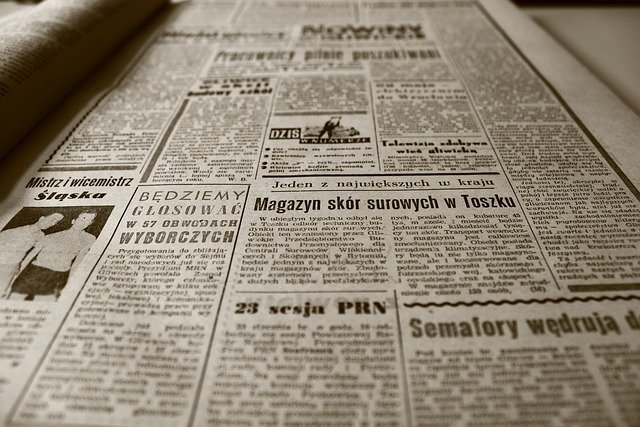 Old Newspaper, Newspaper, The 1960s, Retro, Sepia, Old