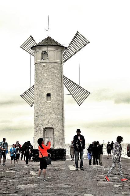 Lighthouse, Mill, The Baltic Sea, Swinoujscie