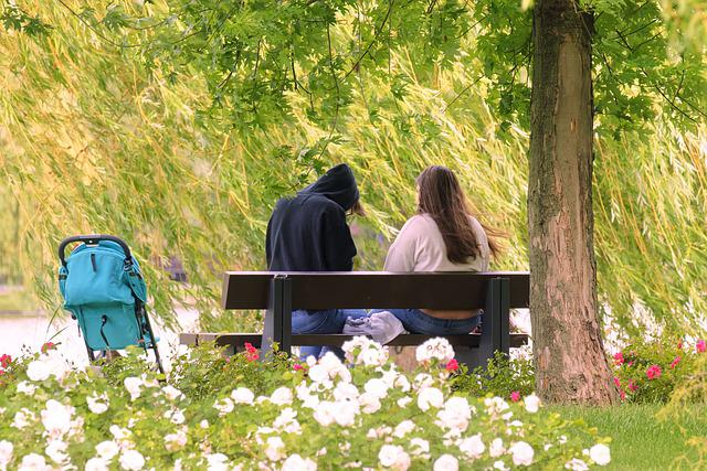 The Young Couple, Girl, The Boy, The Hood, Care, Bench