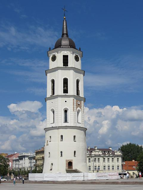 Lithuania, Vilnius, Tower, The Cathedral, Monument